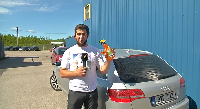 Insect Remover eemaldab efektiivselt autolt putukajäänused